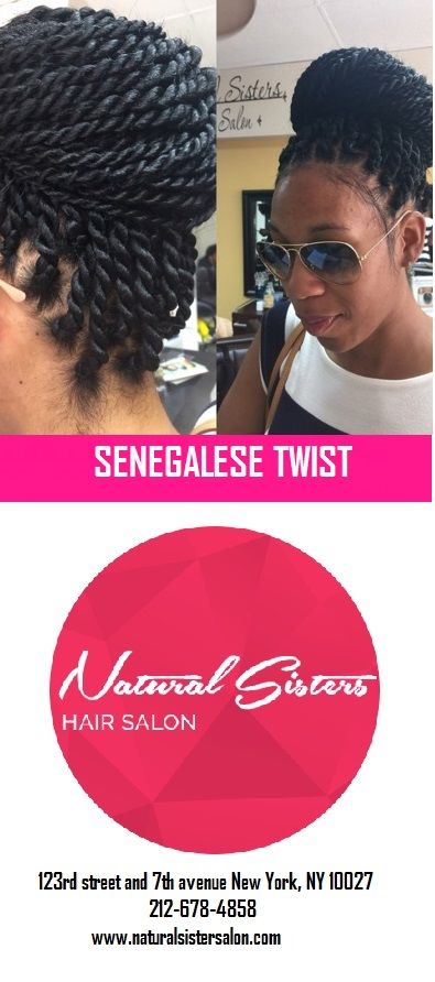 Christmas Natural Hairstyle Ideas : Senegalese Twist