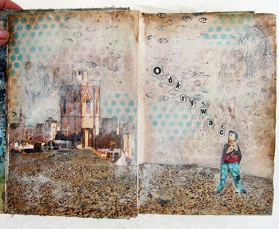 project by Siwka with 3rd Eye stamps <3 #stamp #stamping #stamps #collage #artjournal