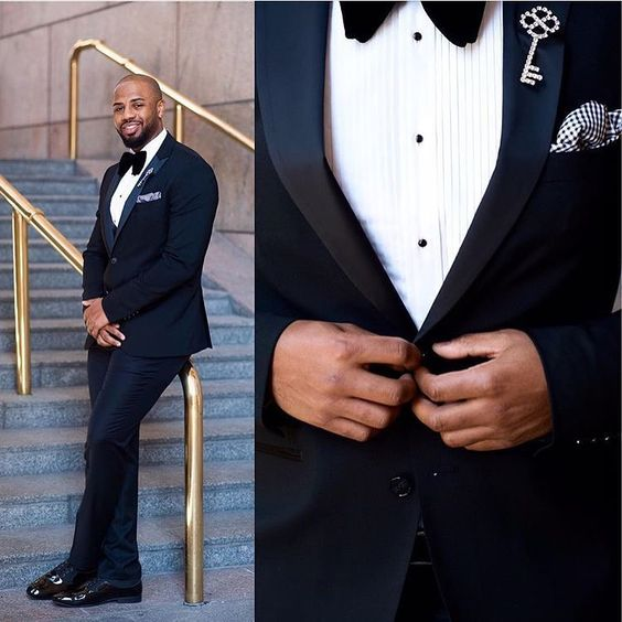 """""""Nothing like completing the classic black tie look with the right accessories. Love the look styled by @geekrestored 