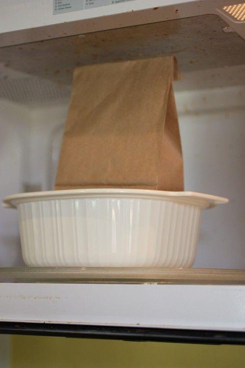 Homemade microwave popcorn!
