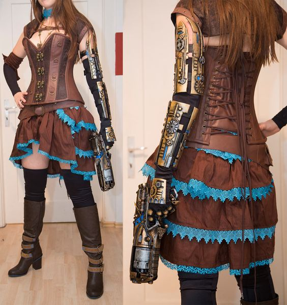 tenue steampunk femme recherche google steampunk gothique pinterest armes arme. Black Bedroom Furniture Sets. Home Design Ideas