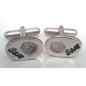 Men's fingerprint jewellery can be limited in choice, but you won't get much more personal than an actual fingerprint cufflink set!
