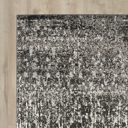 Trent Austin Design Twentynine Palms Black / Light Grey Area Rug