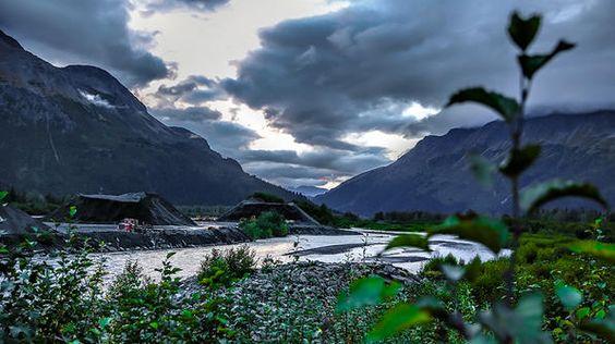 A beautiful, vast view of the Alaskan landscape just outside Seward.