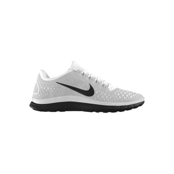 Nike Free 3.0 v4 Shield iD Custom Women's Running Shoes - White, 9.5 ($135) ❤ liked on Polyvore