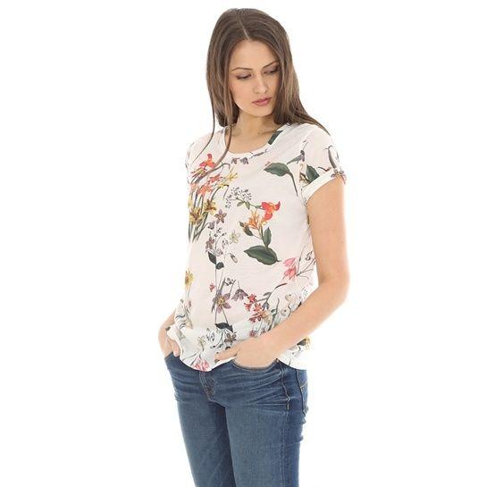 T-Shirt mit Blumen-Print - T-Shirts-Kollektion - Pimkie Deutschland