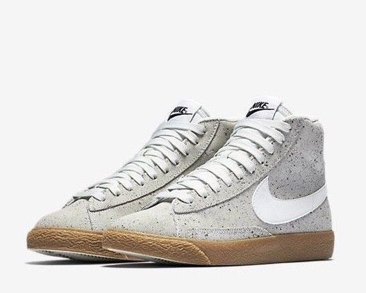 Nike Blazer Mid RETRO GS Youth Kids Shoes Concrete Gray Gum