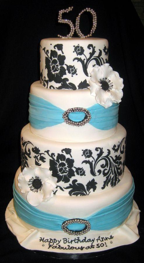 Elegant 50tje Birthday Cake Cake Masterpieces