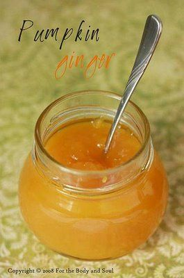 Pumpkin and Ginger Jam
