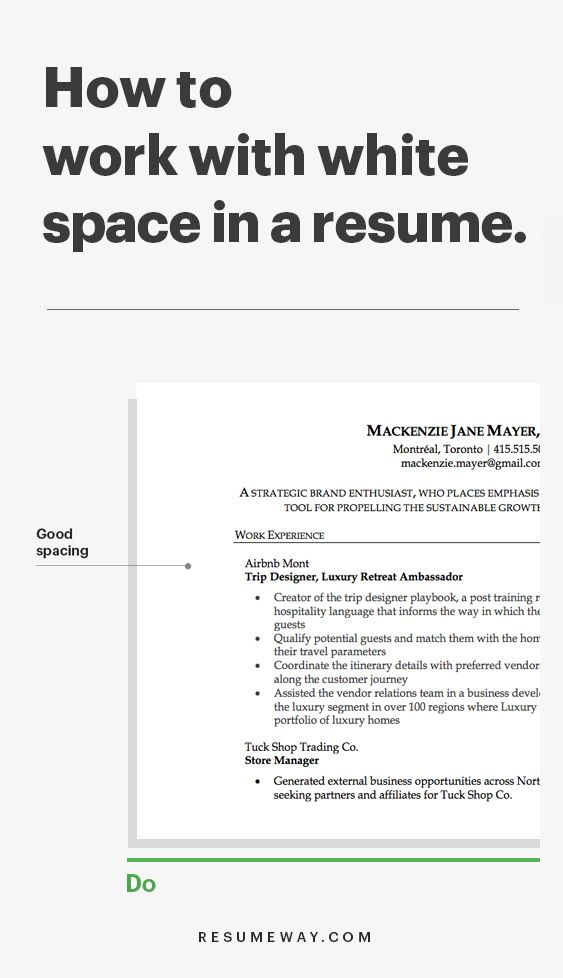 Why White Space Is So Important In Resume Resumeway Resume Writing Tips Resume Tips Resume Advice