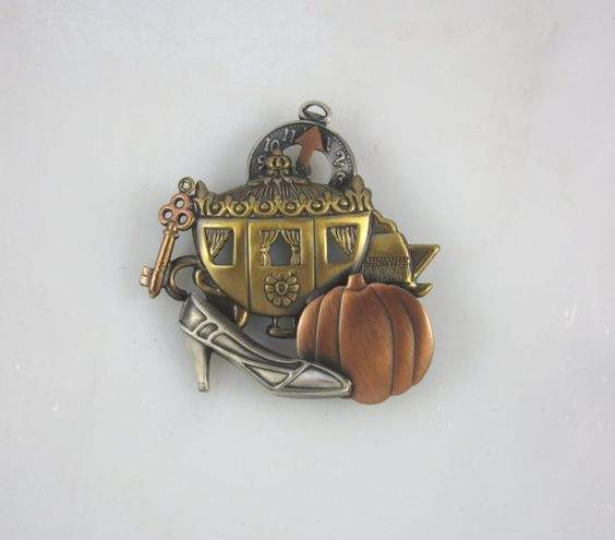 Cinderella Brooch by PINSwithPERSONALITY on Etsy, $22.00