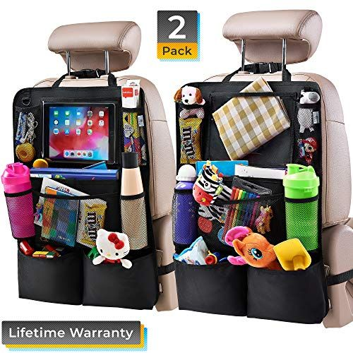 Car Back Seat Organiser Storage Bag iPad Holder Kids Protector Kick Mat NEW