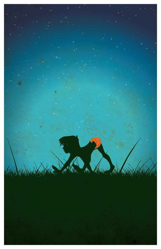 Disney movie poster - Jungle Book  Poster size: 11 inches x 17 inches  - Printed on high quality, weather resistant, 220g texture card - All