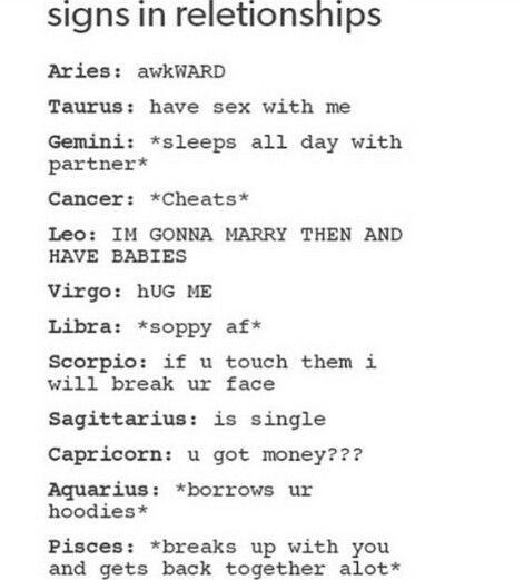 That love and sex horoscopes