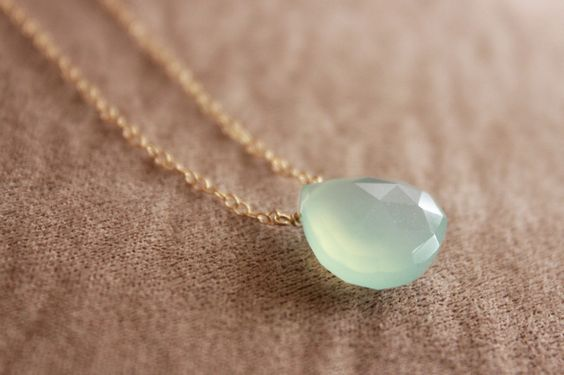 Enter to win a free Mint Chalcedony Gold Necklace from Jewelmint!