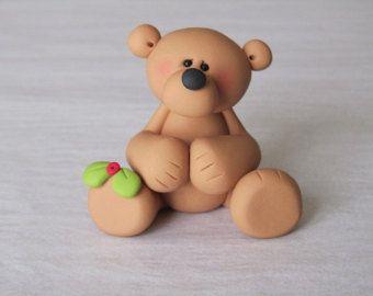Polymer Clay Christmas Bear