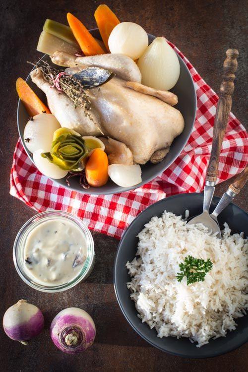 Poule au pot sauce suprême