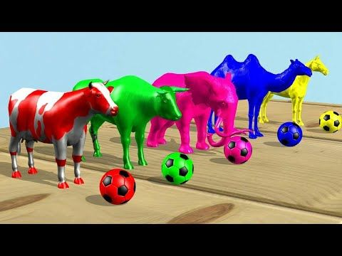 Learn Colors Learn Animals Kids حيوانات للاطفال ملونة Youtube Learning Colors Colorful Animals Animals