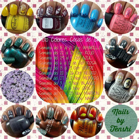 Nails by Tenshi: Reto Colores 2: Recopilación #NailArt