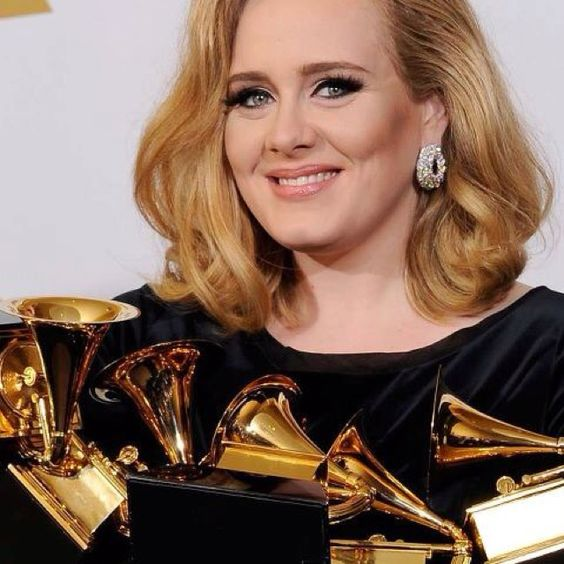 My pick for my Most Beautiful {both inside & out} at @TheGrammys @OfficialAdele - thrilled she swept them all!