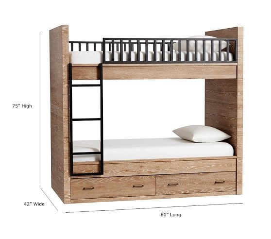 Grayson Twin Over Twin Bunk Bed With Images Bunk Bed Sets