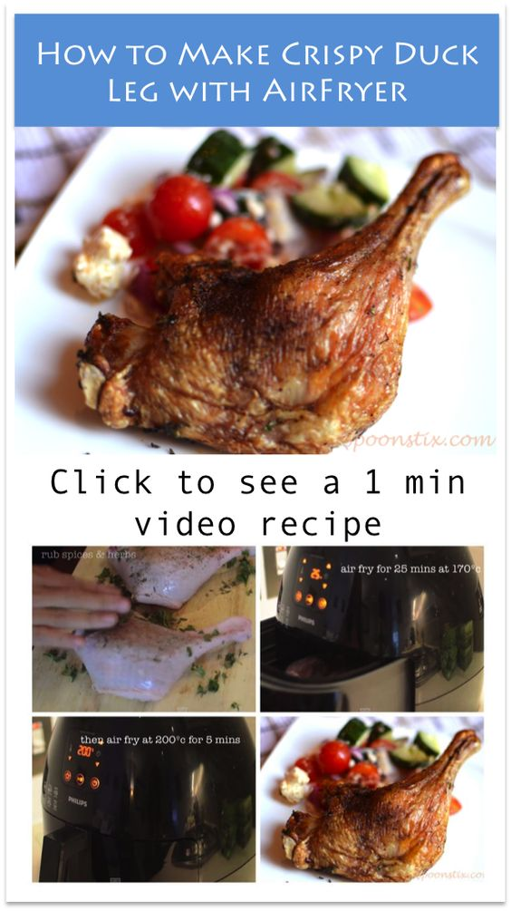 Learn how to make easy crispy duck legs in Phillips AirFryer