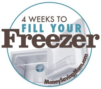 a 4 week plan to fill your freeze with meals- shopping lists and recipes