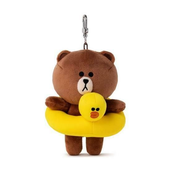 """LINE FRIENDS Character FOX BROWN Bag Charm Doll 15cm 5.9/"""" Official Goods"""