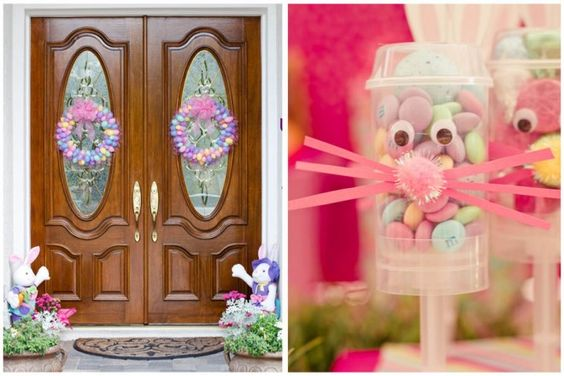 Whimsical Pink + Green Easter Party