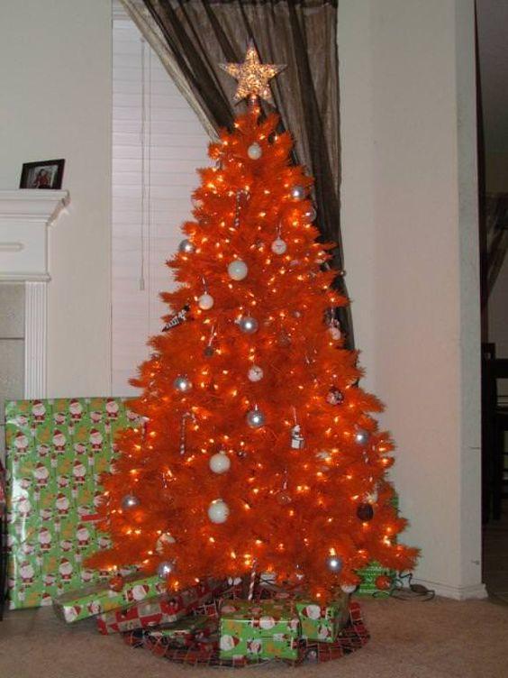 Pix For > Orange Christmas Trees