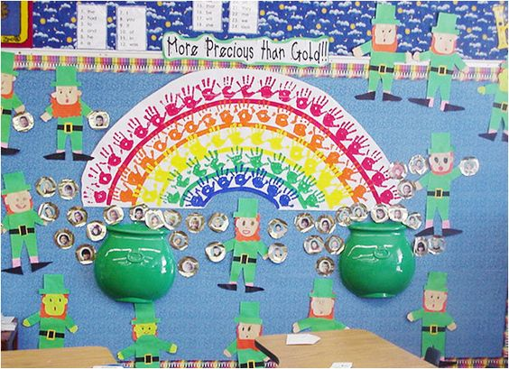 We did the rainbow for our spring bulletin board pretty for Pretty bulletin board