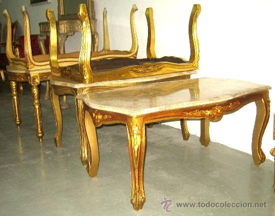 Mesa de m rmol claro estilo franc s ideal decoraci n for Replicas de muebles