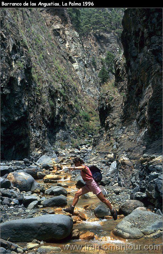 Cross-Island walk.... Jump! Barranco de las angustias ♡ La Palma - Canary Islands 1996