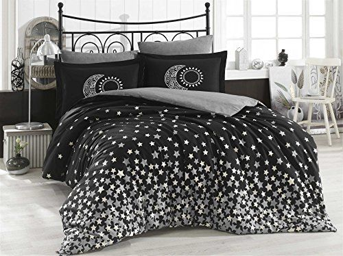 Dose Of Modern Star S Black Poplin Single Quilt Cover Set 113hby2587 Black White Quilt Cover Sets Duvet Cover Sets Small Bedroom