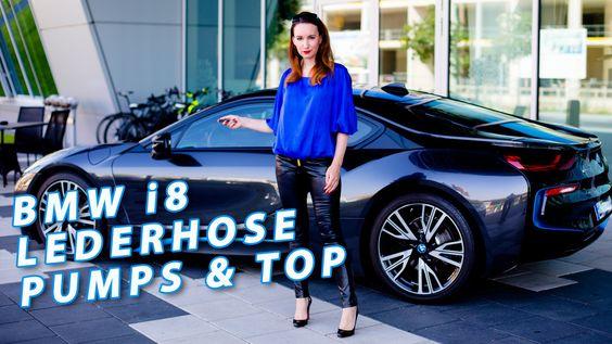 LEATHER LEGGINGS PANTS WOMEN - BMW i8, Leder Leggings, Lederhose, Loubou...