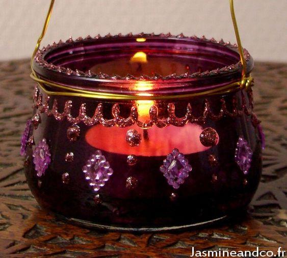 Faire une lanterne orientale bollywood customisation pot de yaourt moroccan diy lantern - Fabriquer une lanterne ...