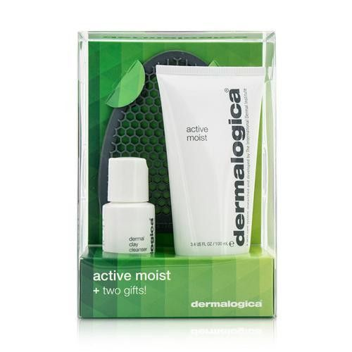 Active Moist Limited Edition Set: Active Moist 100ml + Dermal Clay Cleanser 30ml + Facial Cleansing Mitt --3pcs