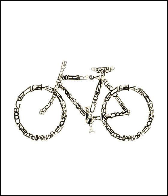 Bicycle typography! :0