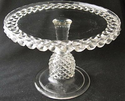 "PAVONIA cake stand, 10"" d. EAPG"