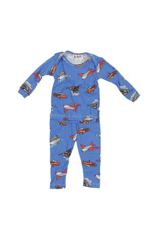 The 2 Piece Trains/Planes Lap Set (Infant Boy) by At Home from MFredric.com