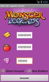 Monster Legends Hack Get Free Gems Gold And Food Monster Legends Game Monster Legends Cheating