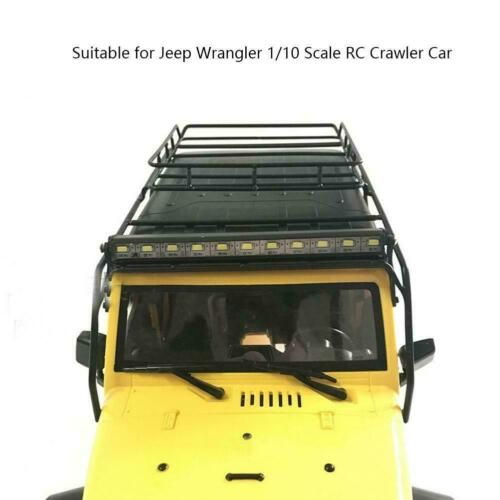 Details About Metal Rc Roof Rack Luggage Rc Accessory Jeep Wrangler 1 10 Scale Crawler Car G Roof Rack Jeep Wrangler Car