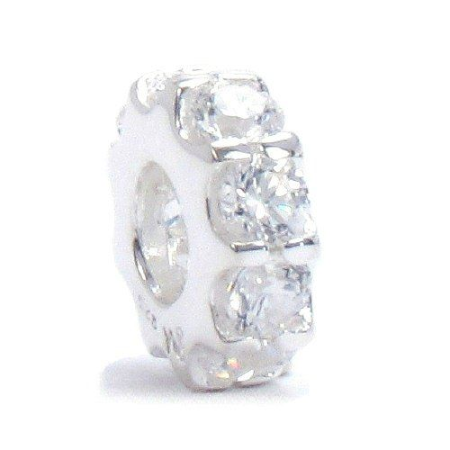 moress clear swarovski cz color band solid 925 sterling