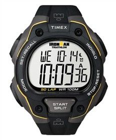 Timex Ironman Full-Size (Black & Yellow) 50 Lap is an easy to use watch for fitness beginners.