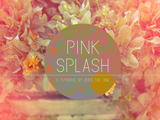 Photoshop Tutorial: Pink Splash Technique