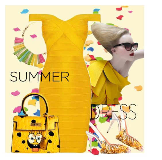 """Bright Summer Dresses contest"" by benzin ❤ liked on Polyvore featuring Rochas"