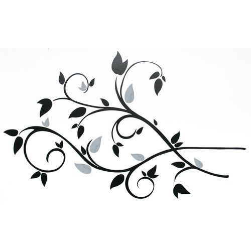 Found it at Wayfair - Deco Scroll Branch Foil Leaves Wall Decal