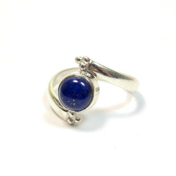 Bague argent et lapis lazuli T53