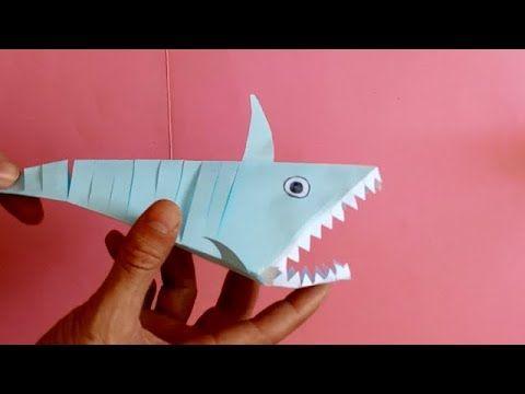 كيف تصنع سمك القرش بالورق How To Make Paper Shark Education