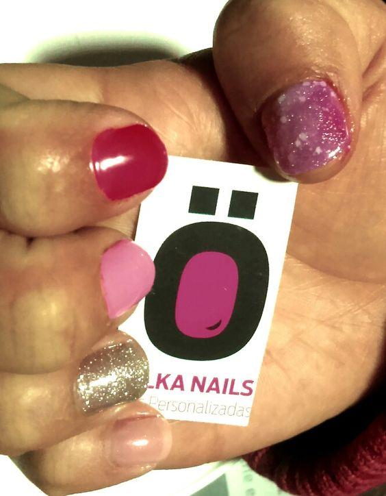 Pink nails #colour #theme